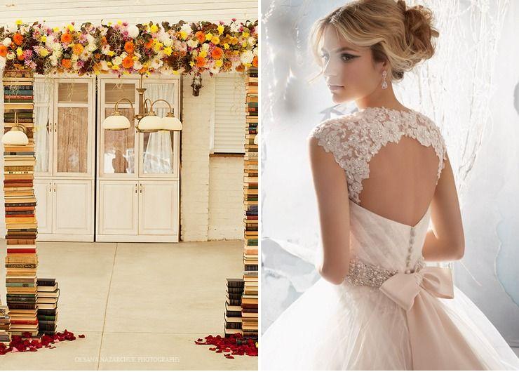 Wedding dresses Brown in Autumn Vintage