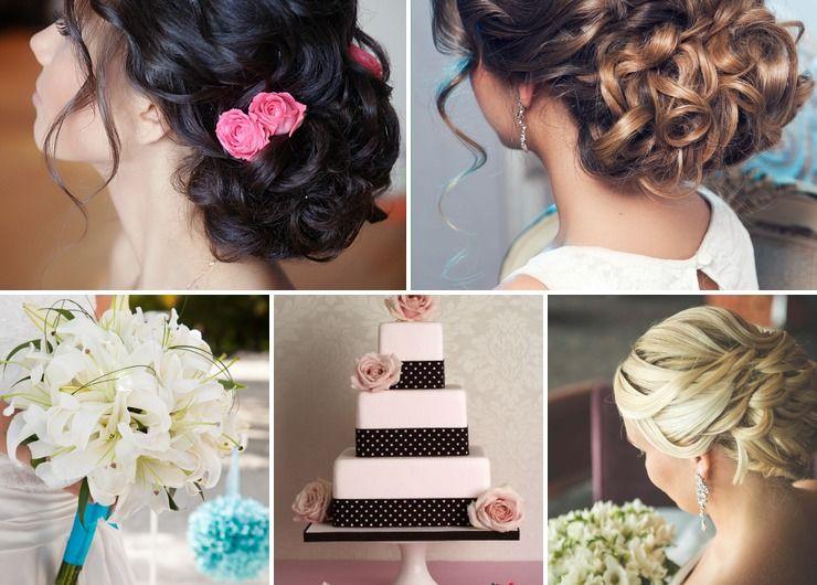 Mediterranean pink bridal style