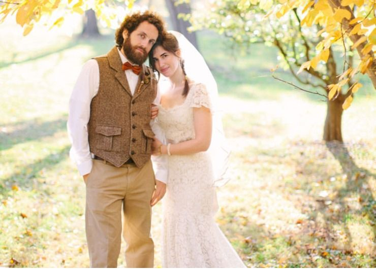 Rustic autumn real weddings