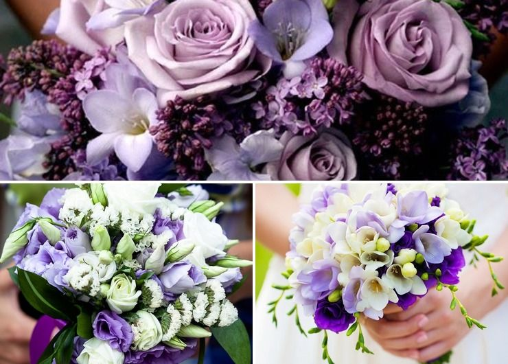 Bridal bouquet Purple in Spring