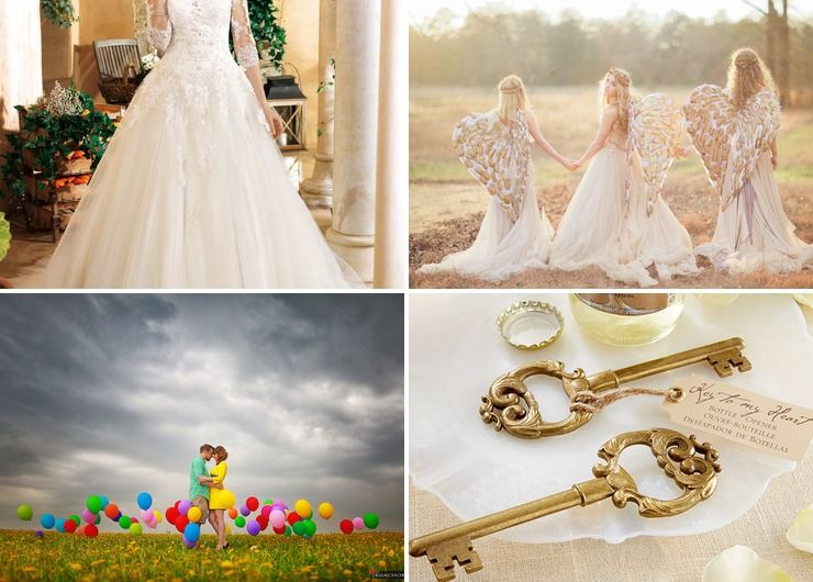 Wedding dresses Yellow in Summer Themed