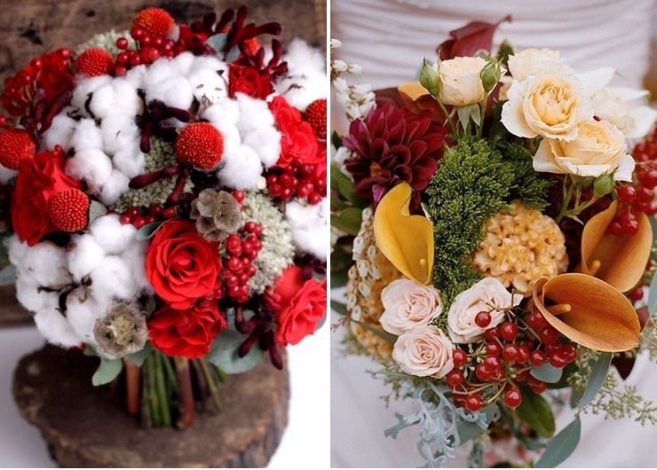 Bridal bouquet Red in Autumn
