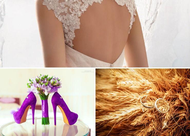 Wedding dresses Purple in Autumn