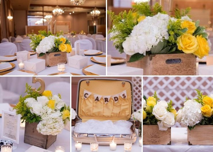 Yahaira & Omar's Yellow Vintage Wedding
