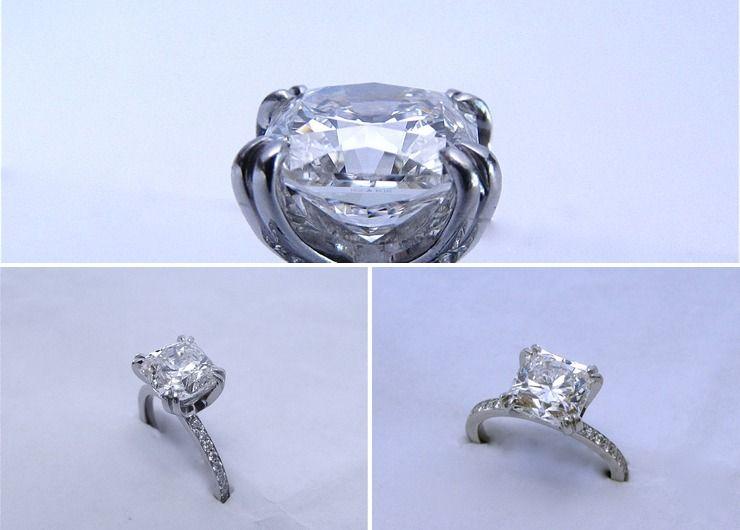 Heather's custom platinum 2.60ct HOF Dream diamond ring