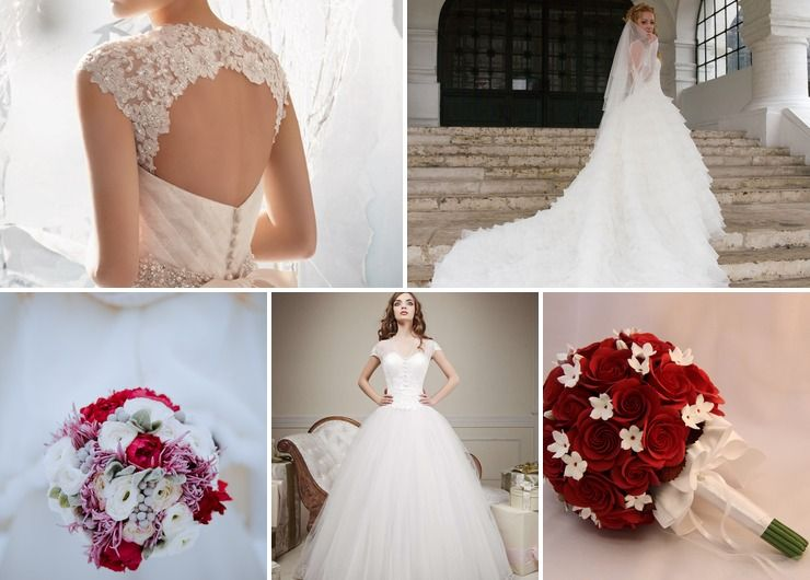 Wedding dresses Red in Autumn Vintage