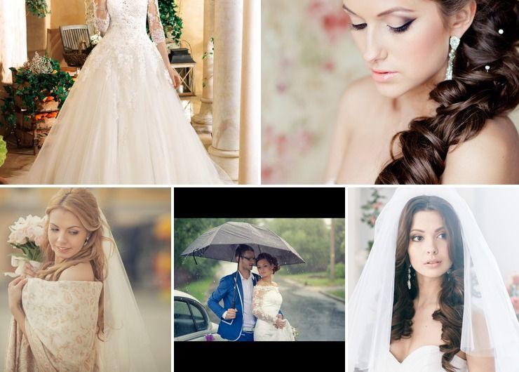 Wedding dresses Blue in Autumn Rustic
