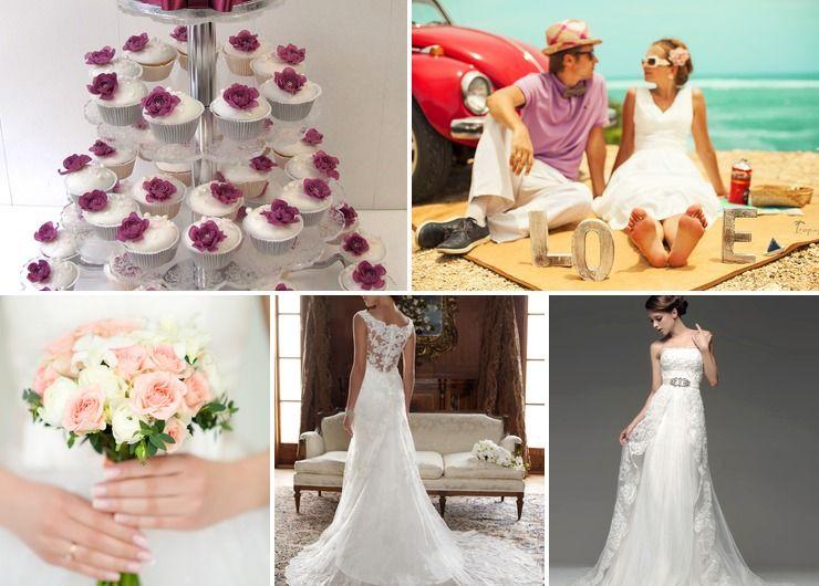 Vintage pink bridal style