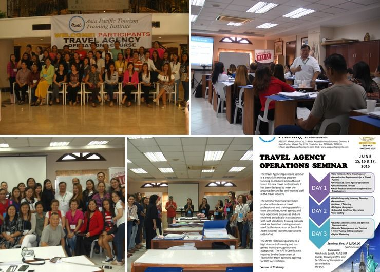 TRAVEL AGENCY OPERATIONS SEMINAR by Asia Pacific Tourism