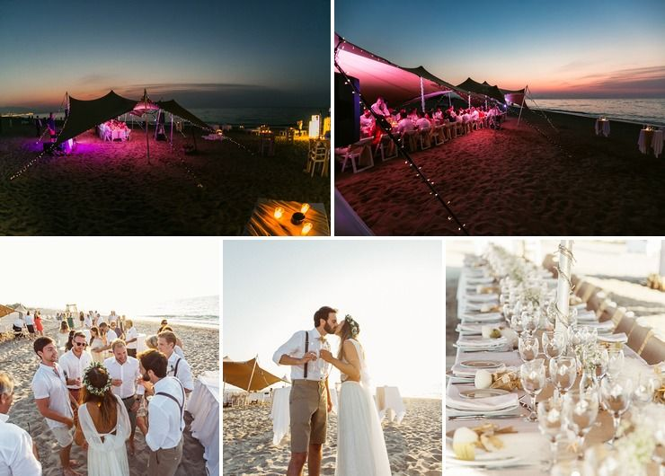 L & G's marquee beach wedding in Crete