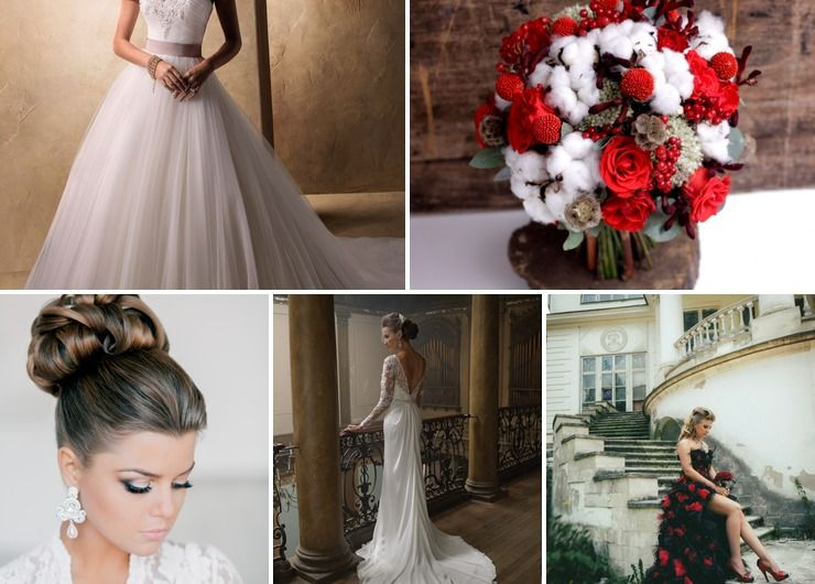 Wedding dresses Red in Winter American