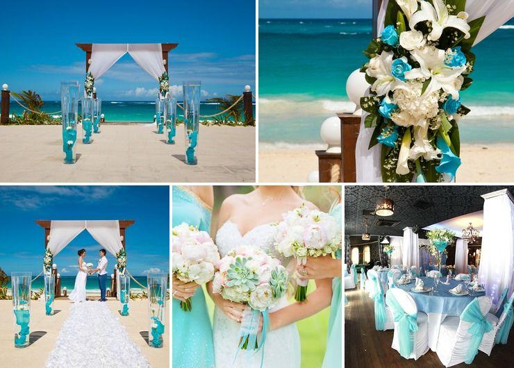 American white wedding reception decor