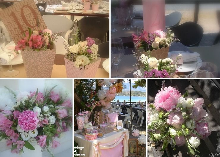 Pink wed & christening by the sea