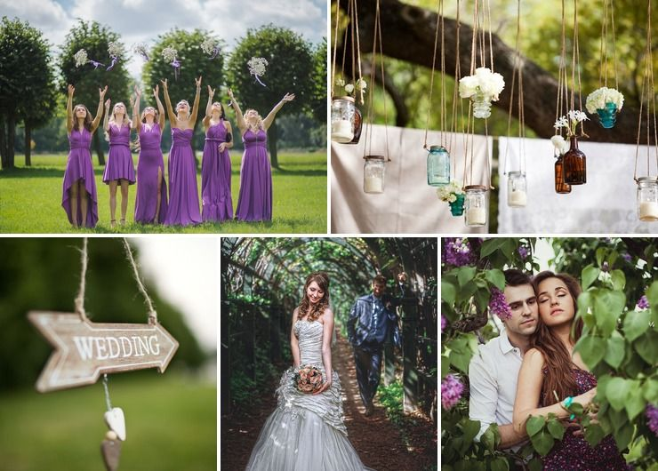 Bridal style Purple in Spring Rustic