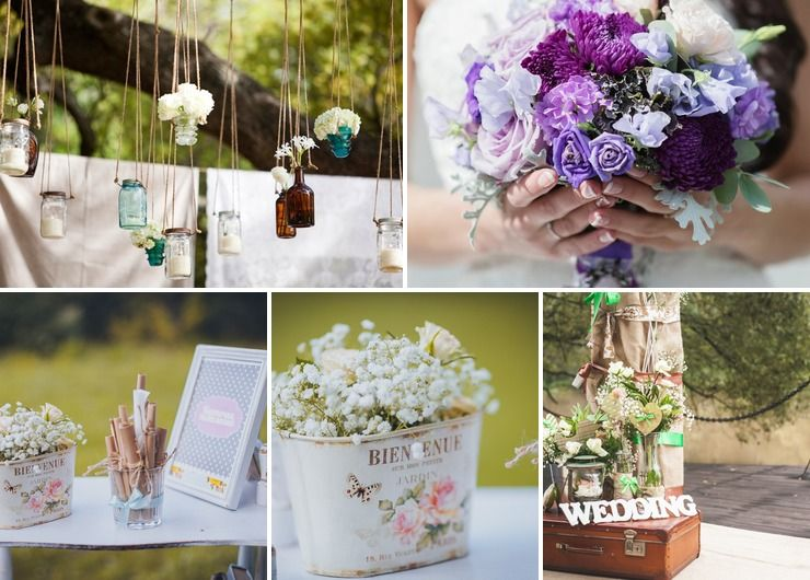 Rustic summer wedding photo session decor