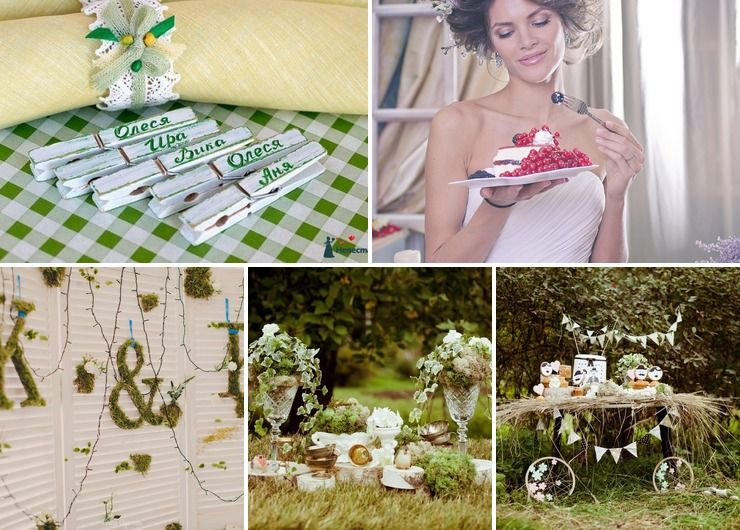 Rustic summer wedding accessories