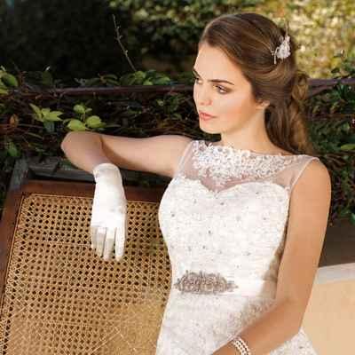French short sleeve wedding dresses