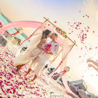Overseas pink real weddings