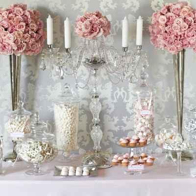 French pink wedding reception decor