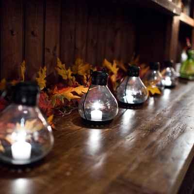 Autumn wedding reception decor