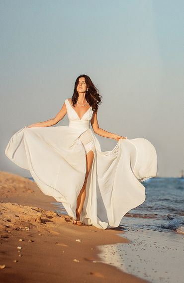 Beach open wedding dresses