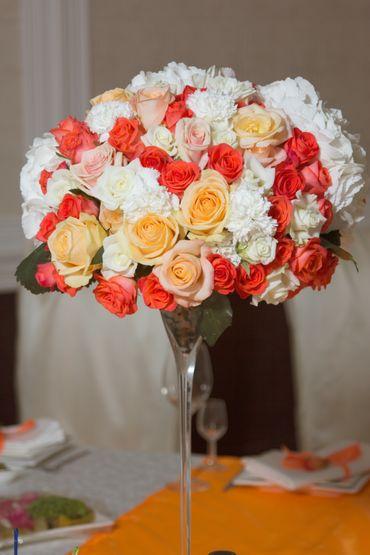 Ivory carnation wedding bouquet