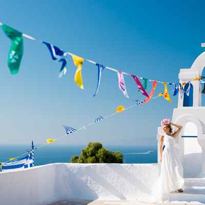 Mediterranean blue real weddings