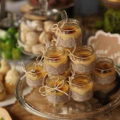 Rustic brown wedding reception decor