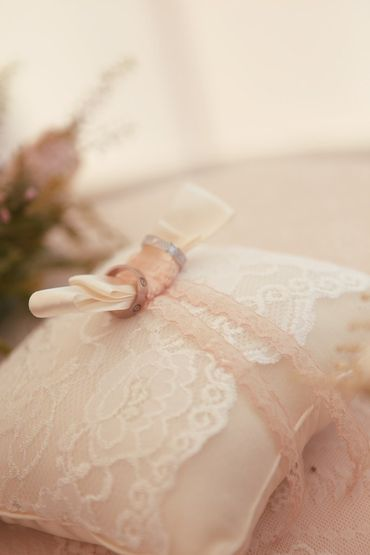 Ivory wedding ring pillows