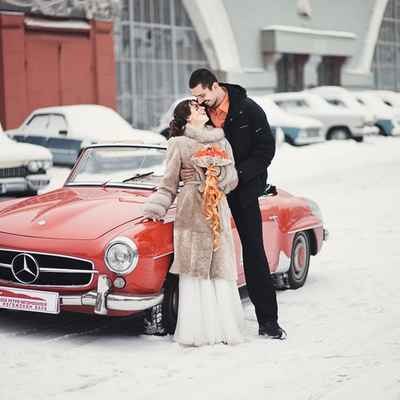 Winter wedding transport