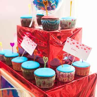 Blue wedding cupcakes