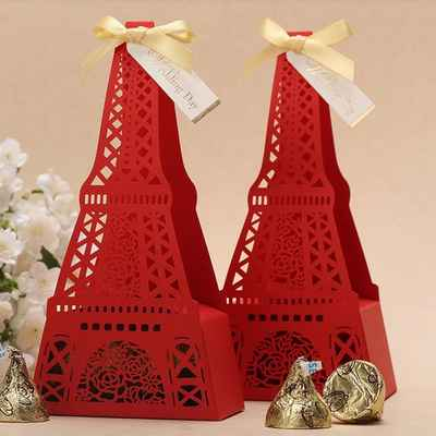 French red wedding favours