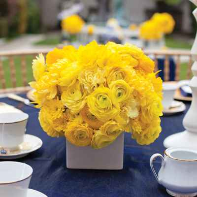 Yellow wedding floral decor