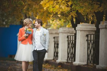 Autumn orange real weddings