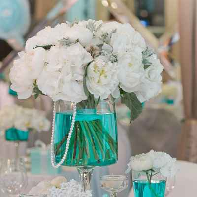 Breakfast at tiffany's white wedding signs