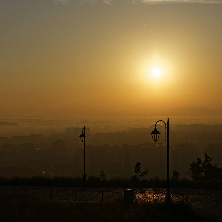 Sun rise in Brasov