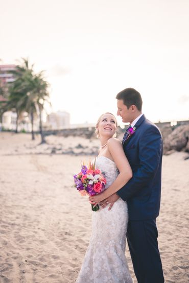 Beach purple real weddings