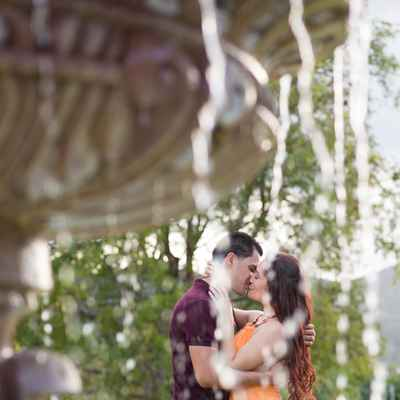 Outdoor summer engagement