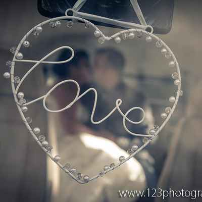 Grey wedding photo session decor