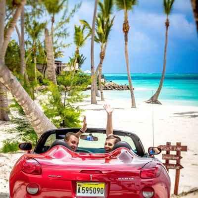 Beach red wedding transport
