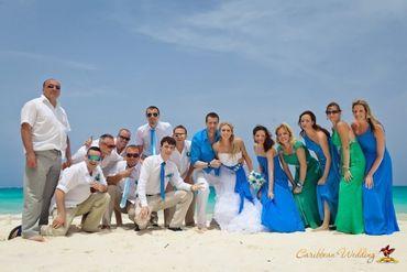 Overseas white bridesmaids