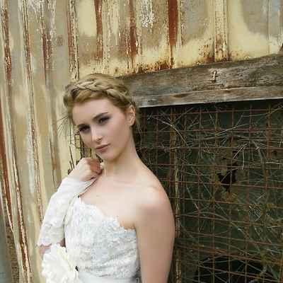 Vintage ivory long wedding dresses