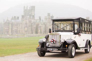 Vintage ivory wedding transport