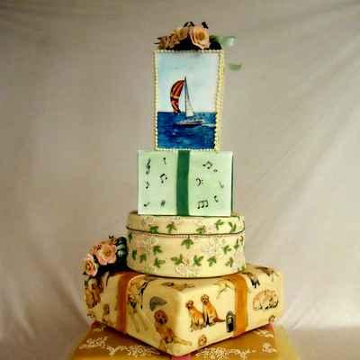 Marine wedding cakes