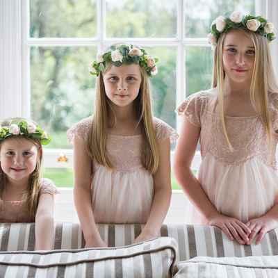 Ivory kids at wedding