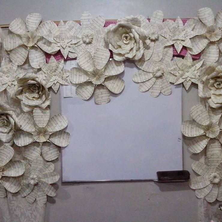 Paper Flowers, Bouquets, Buttonieres, Corsages and Flower Crowns in Music Sheets