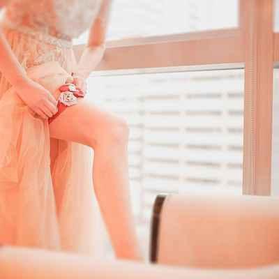 Red wedding lingerie