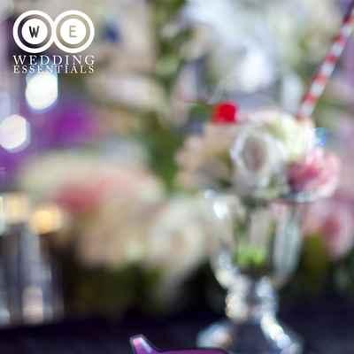 Purple wedding signs