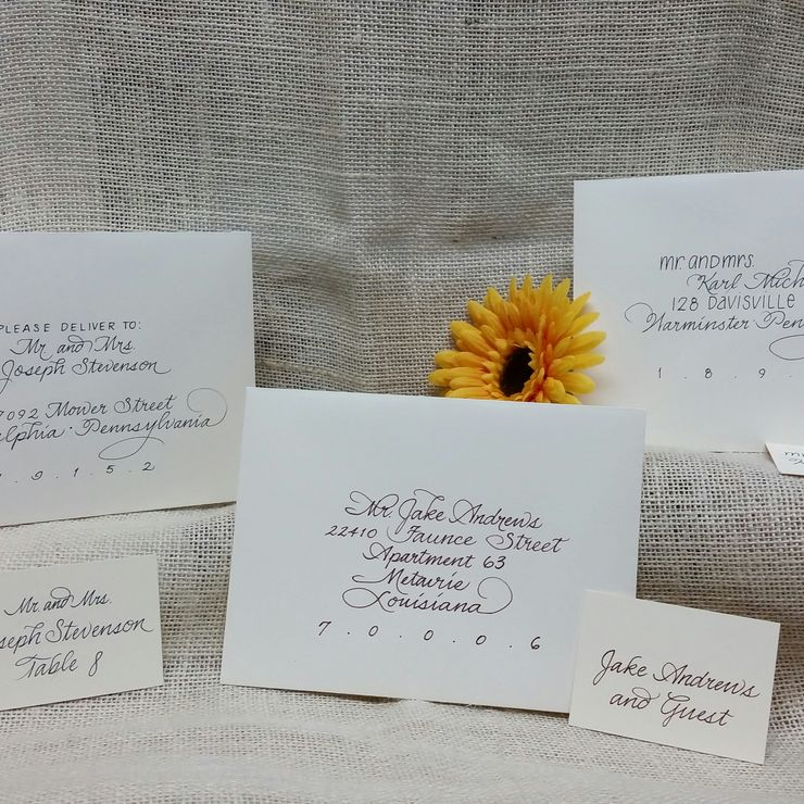 Calligraphy, by hand -by Irene