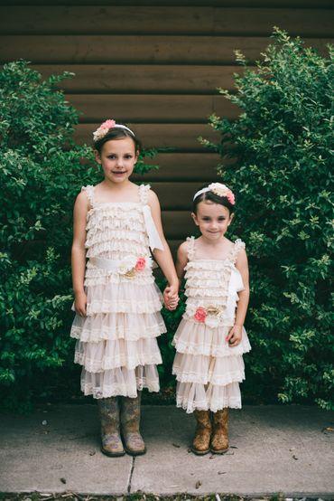 Brown kids at wedding